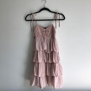 H&M Layered Ruffle Dress with Adjustable Straps
